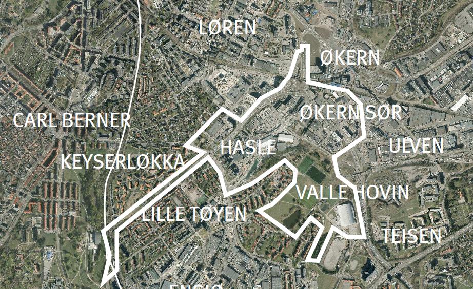 kart økern PBE skal lage veiledende plan for Økern Sør og Hasle, rett ved  kart økern